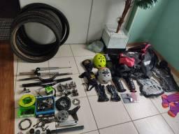 Peças MTB 29 e 26 / pneus, pedal, equipamentos