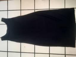 Vestido reto preto