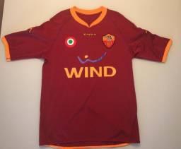 Camisa Oficial Roma 2007/08 - Kappa - Wind - Cicinho