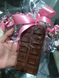 Barra de chocolate recheada