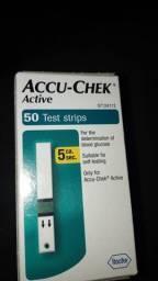 6 caixas de fitas para glicemia accucheck