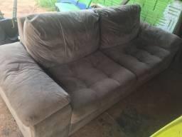 Vendo sofá 4 lugares suede