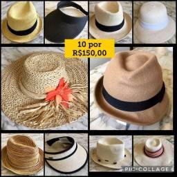 10 chapéus por 150,00