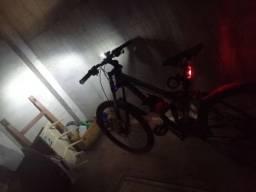 Kit luzes bike recarregáveis usb dianteira e traseira, lanterna 300 lumes