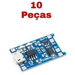 10x Placa Tp4056 De Proteção Carregador Bateria Lítio 1s Bms