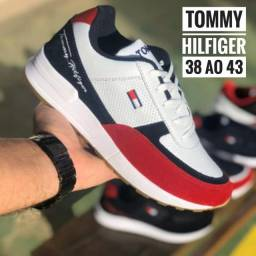 Tênis Tommy Hilfiger Branco c/ Vermelho N° 38 ao 43