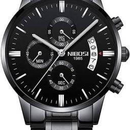 Relógio Nibosi preto original. 100% funcional!!!