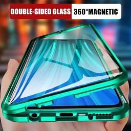 Case Magnética 360 Graus Verde Para Redmi Note 9 Pro