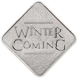 Medalha Game Of Thrones House Stark Edição Limitada