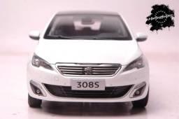 Peugeot 308s Hatch Branco - Escala 1:18 - Descontão Peugeot
