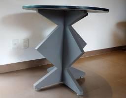 Mesa em MDF Azul