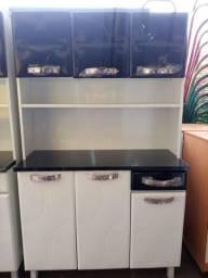 Armário de cozinha 6 portas em Aço novo