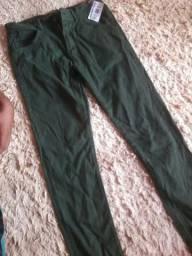 Vendo calça Masculina Jeans Verde 60,00
