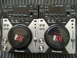 Par de CDJ 400 Pioneer