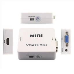 Adaptador VGA para HDMI (conversor com áudio e vídeo)