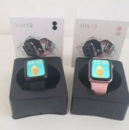 ?12 x sem juros?Entrega grátis??Relógio Smartwatch Iwo Hw12 - Ligação, Notificações, Saúde
