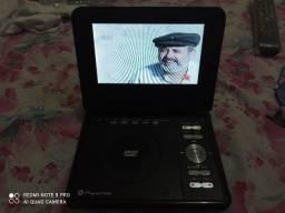 Dvd portátil com tv e vídeo game USB Ac cartão