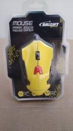 Mouse Gamer Usb Bright Resolução Ajustável Amarelo 6 Botões