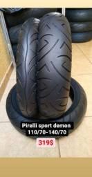 Vendo pneus p/ Twister cb 300 ninja fazer