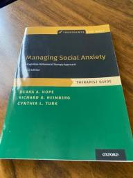 Managing Social Anxiety, Therapist Guide (Treatments That Work) 3rd Edición
