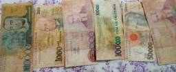 6 notas de cruzeiros R$50,00 cada