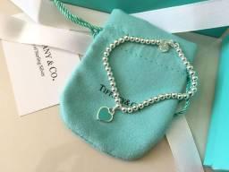 Pulseira Tiffany coração contas