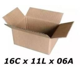 50 Caixas Padrão Correios 16x11x06cm