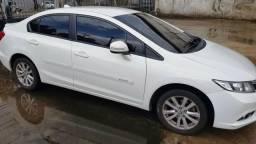 Honda civic LXR 2.0 aut banco de couro caramelo 2014 quitado licenciado não troco - 2014