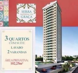 Apartamento 3 Quartos Serra Imperial da Graça-Alto Padrão-Pronto p/Morar c/Varandão