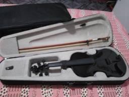 Violino preto 4x4 usado apenas uma vez (sem cordas)