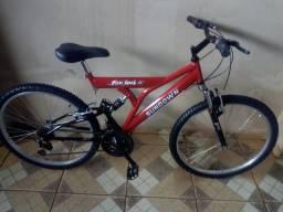 Bicicleta suspensão dupla aro 26