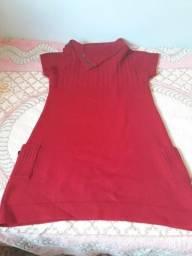 Veste legg de lã vermelho