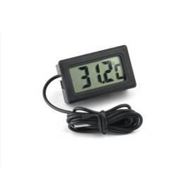 Termometro Digital Lcd Aquario Freezer cozinha Com Cabo com sensor Novo preto