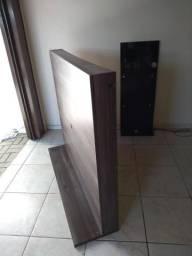 Painel para tv e lateral com 2 prateleiras