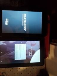 Vendo dois tablet Multilaser ainda na garantia.200os dois.pra vender logo