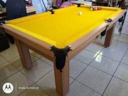 Mesa Tentação de Redes Cor Cerejeira Tecido Amarela Mod. RBGF9858