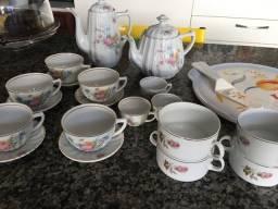 Jogo de chá porcelanas Schmidt Lindas e raras!
