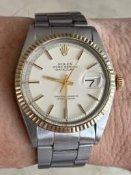 Rolex Datejust 1601 Aço/ouro - Oyster Vintage - Completo!!