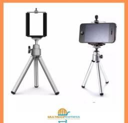 Mini Tripé Retrátil de Mesa para Celular e Câmera