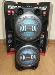 Caixa som, Bluetooth microfone e controle