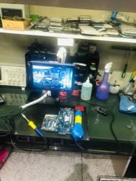 Microscópio máquina solda soprador removedor tout