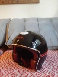Capacete Lucca Custom Sublime 58 com viseira Bubble Shield (NUNCA FOI USADO)