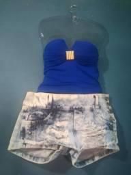 Blusa em coton TM P short saia dins TM 40
