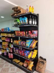Gondolas prateleiras para mercado e conveniência