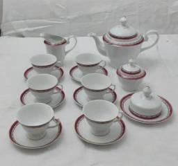 Conjunto de cha porcelana Schmidt