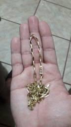 Cordao ouro 18 cartier oco