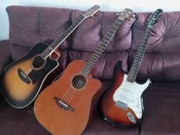 Baixo guitarra e violao