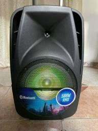 Caixa de Som Amplificada Mondial 500w RMS Bluetooth Recarregável