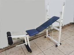 Banco de supino (reto e inclinado em 3 posições) com extensora para pernas