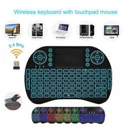 Mini Teclado Wireless Mini Keyboard Usb Sem fio com Touch Pad